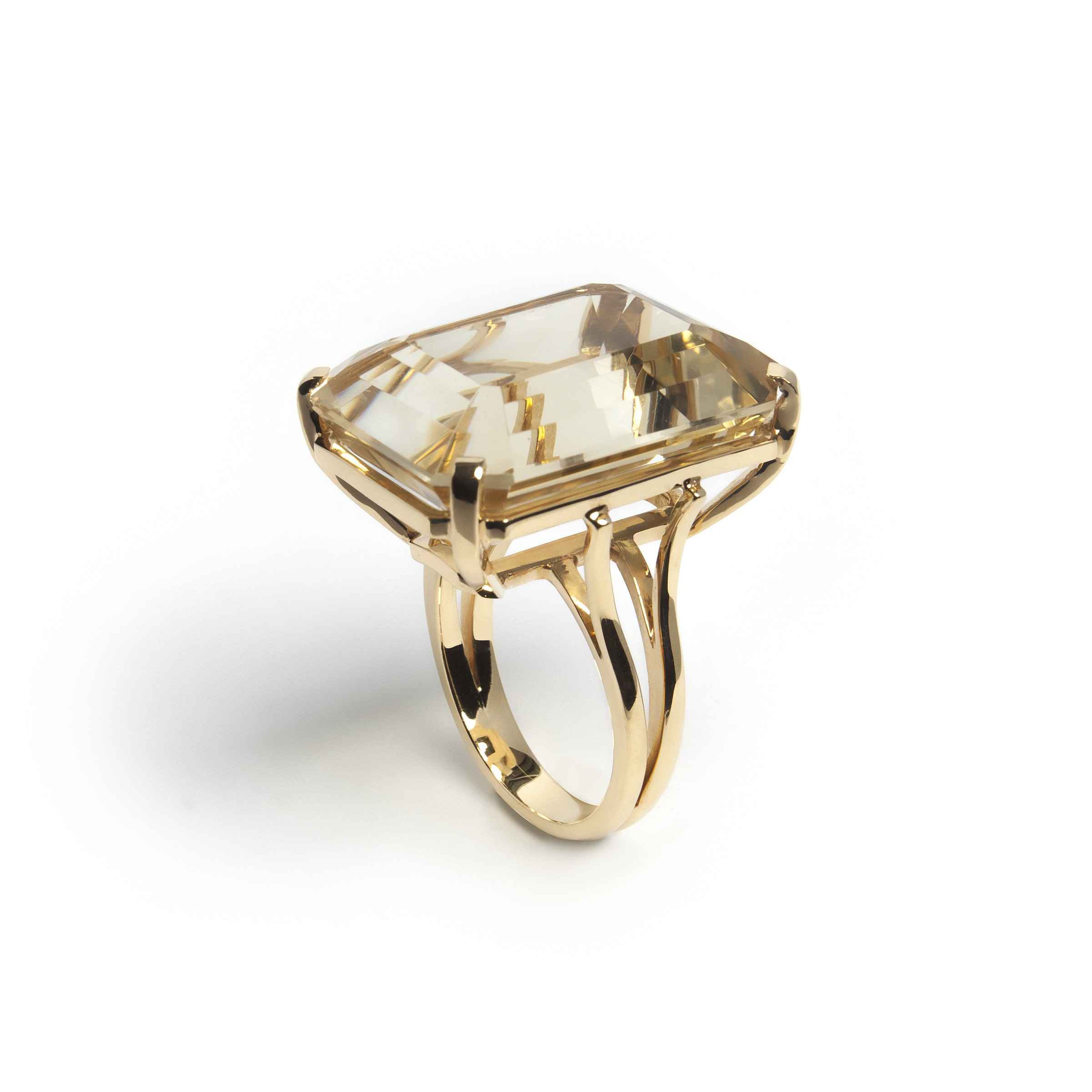 Gold Ring With Citrin